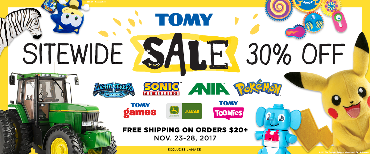 TOMY Sitewide Sale 30% off