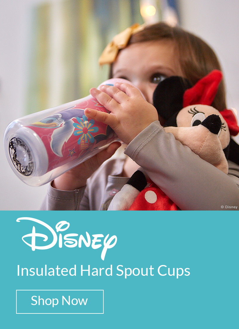 Disney insulated hard spout cups. Shop Now.