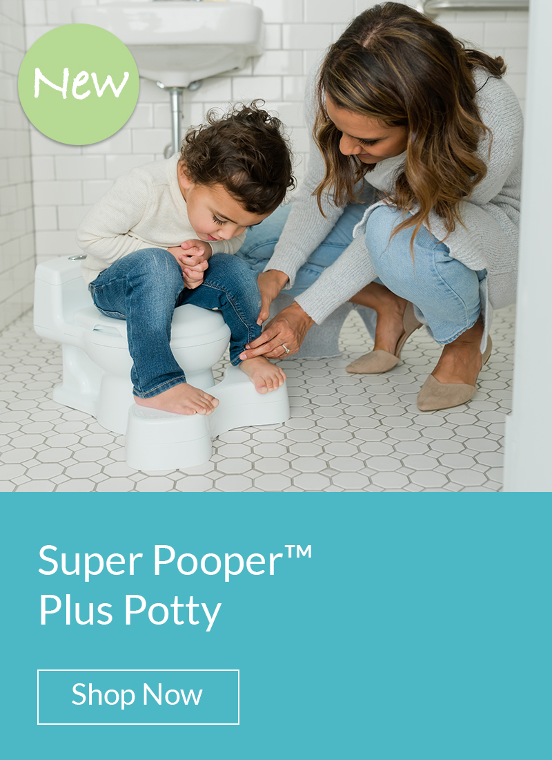 Super Pooper Plus Potty. Shop Now.