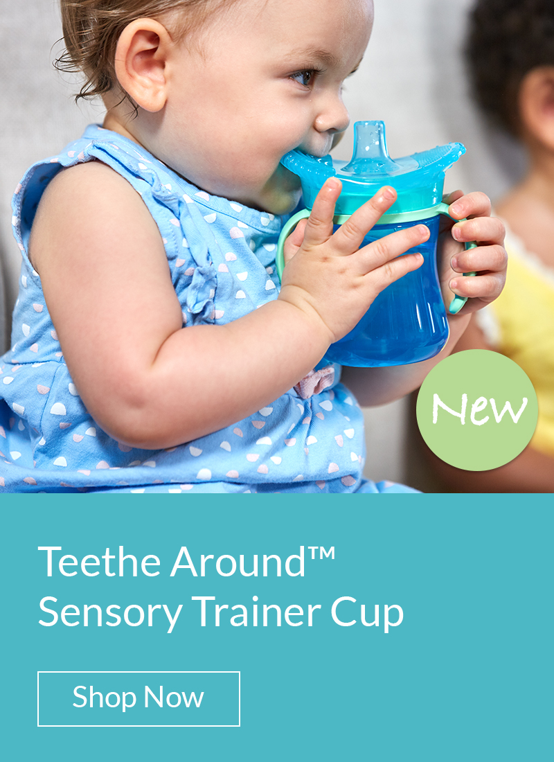 Teethe Around Sensory Trainer Cup. Shop Now.