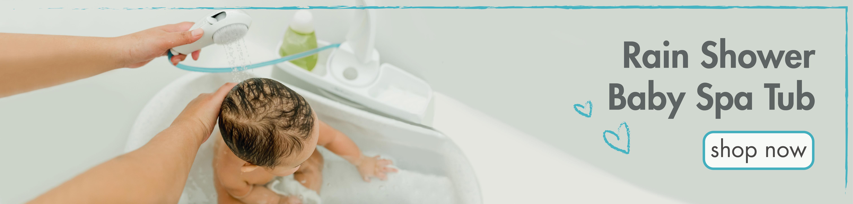 Rain Shower Baby Spa Tub. Shop Now.